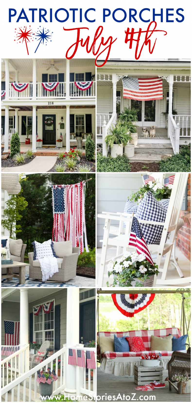 Patriotic Porches - Fourth of July Porch Decor