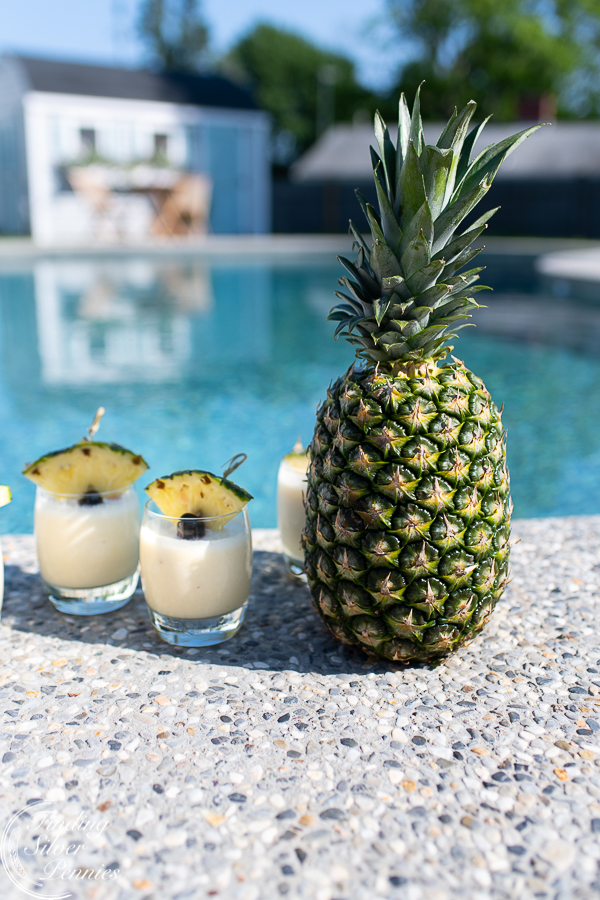 Refreshing Summer Drink Recipe - Classic Frozen Pina Colada by Finding Silver Pennies