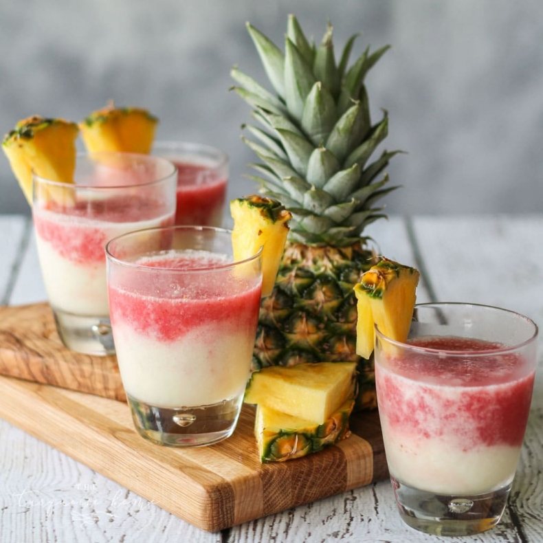 Refreshing Summer Drink Recipe - Lava Flow Cocktail by The Turquoise Home