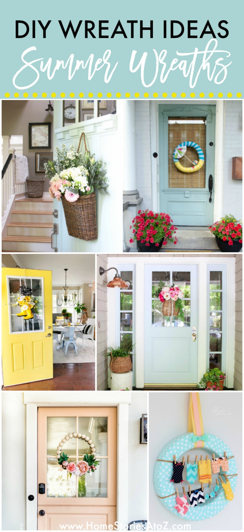 Summer Wreath Ideas Fun Front Door Decor