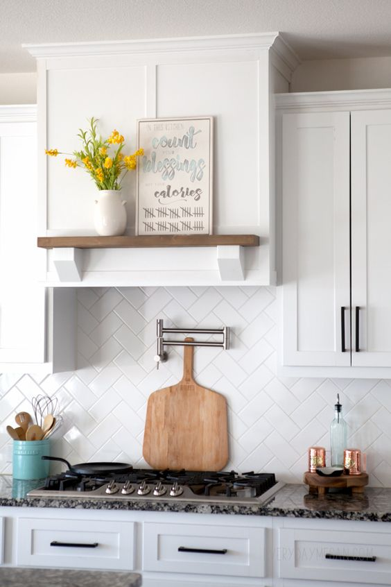 Simple Building Projects to Add Character to Your Home - DIY Kitchen Vent Hood by Everyday Megan