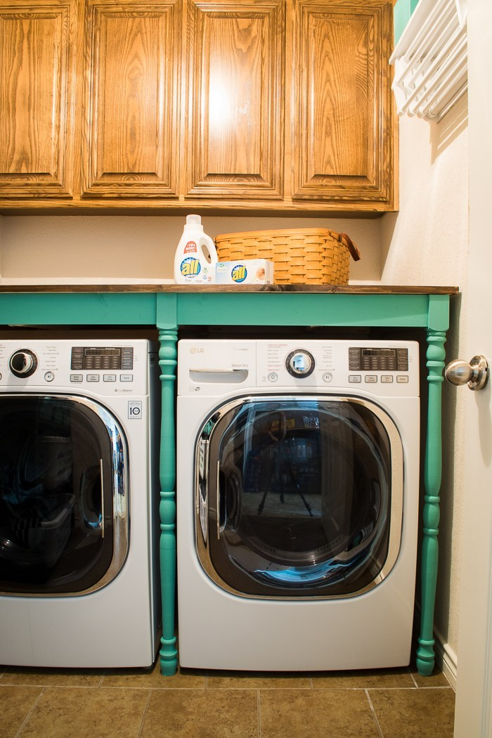 Simple Building Projects to Add Character to Your Home - DIY Laundry Room Table by Major Hoff Takes a Wife