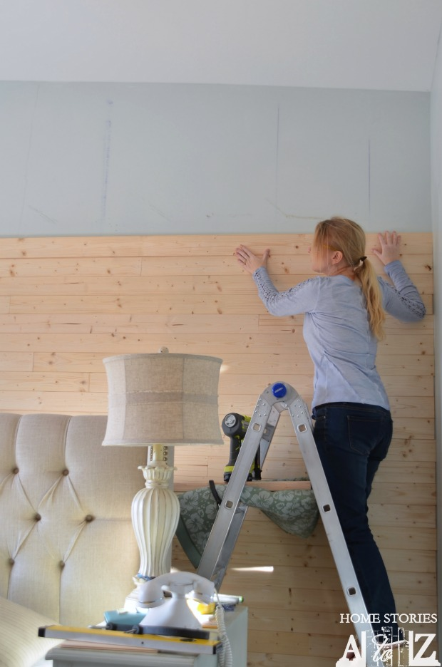 Simple Building Projects to Add Character to Your Home - DIY Plank Wall by Home Stories A to Z