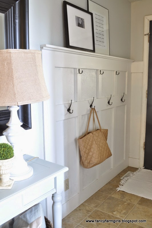 Simple Building Projects to Add Character to Your Home - DIY Wall Mudroom by All Things Thrifty