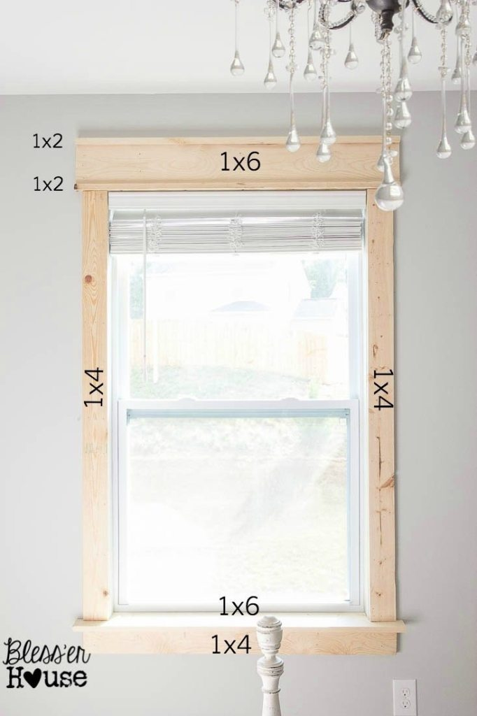 Simple Building Projects to Add Character to Your Home - DIY Window Trim by Bless'er House