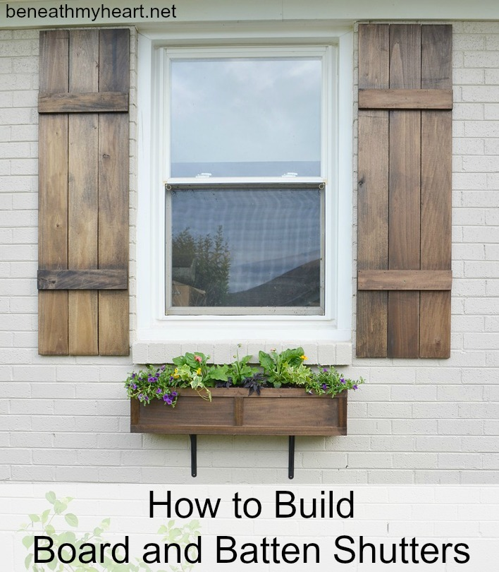 Simple Building Projects to Add Character to Your Home - How to Build Board and Batten Shutters by Beneath My Heart