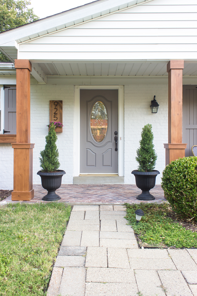 Simple Building Projects to Add Character to Your Home - How to Build Porch Columns by Shades of Blue Interiors