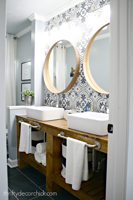Simple Building Projects to Add Character to Your Home - How to Build a Bathroom Vanity by Thrifty Decor Chick