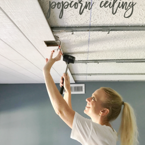 Simple Building Projects to Add Character to Your Home - How to Cover a Popcorn Ceiling by Home Stories A to Z
