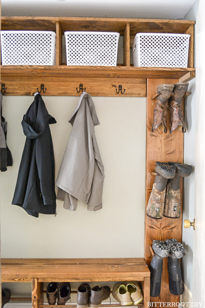 Simple Building Projects to Add Character to Your Home - Mudroom Storage Cubbies Plans by Bitterroot Storage via Ugly Duckling House