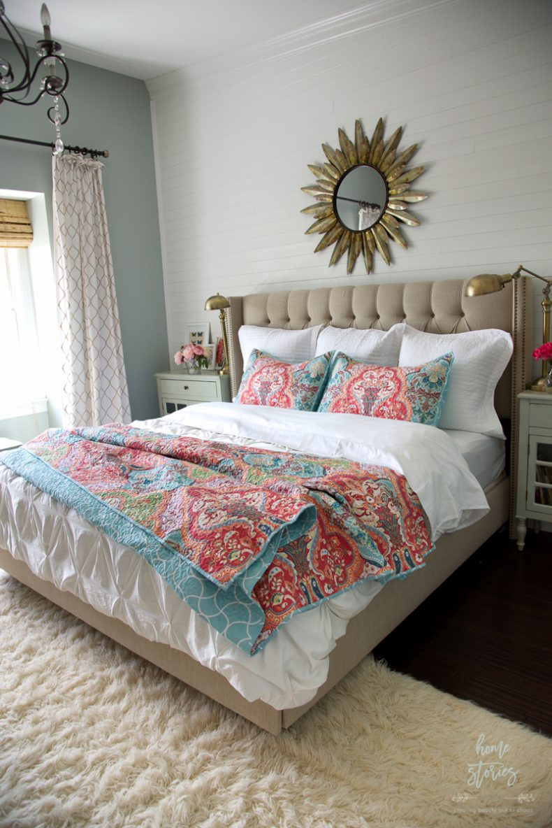 Summer Colorful Bedroom by Home Stories A to Z