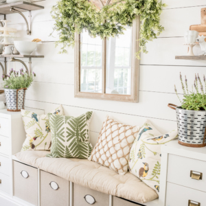Summer Decor Ideas - Lush Summer Breakfast Room by Home Stories A to Z