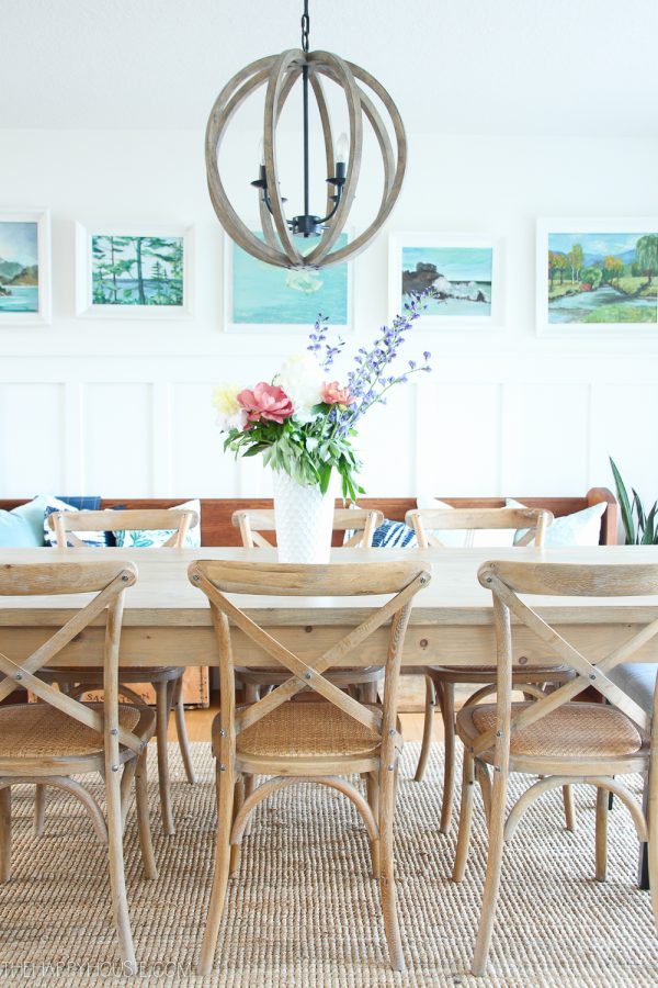 Summer Decor Ideas - Summer Dining Room by The Happy Housie
