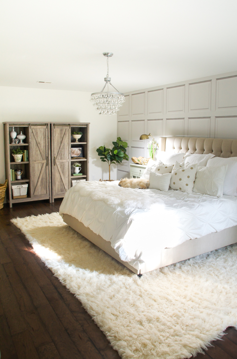 Summer Decor Ideas - White Master Bedroom by Home Stories A to Z