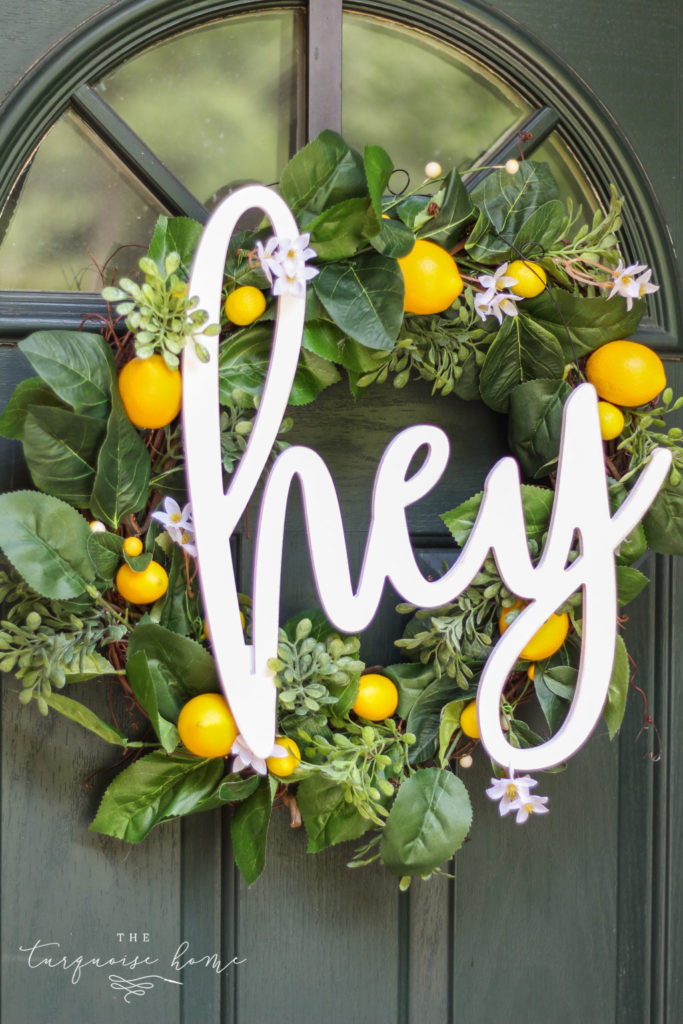 Summer Wreath Ideas - DIY Lemon Wreath by The Turuoise Home
