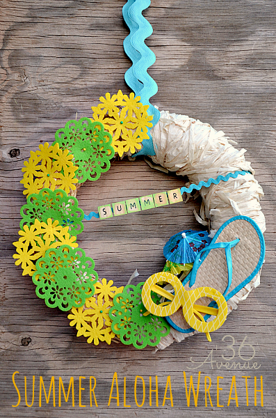 Summer Wreath Ideas - Summer Aloha Wreath by The 36th Avenue