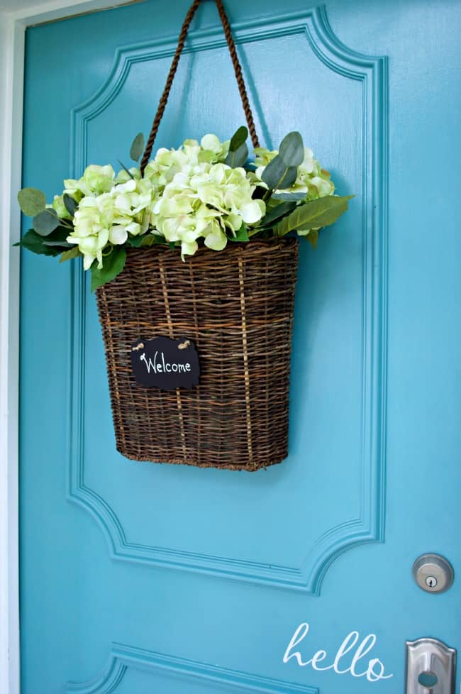 Summer Wreath Ideas - Summer Front Door Basket by Chatfield Court