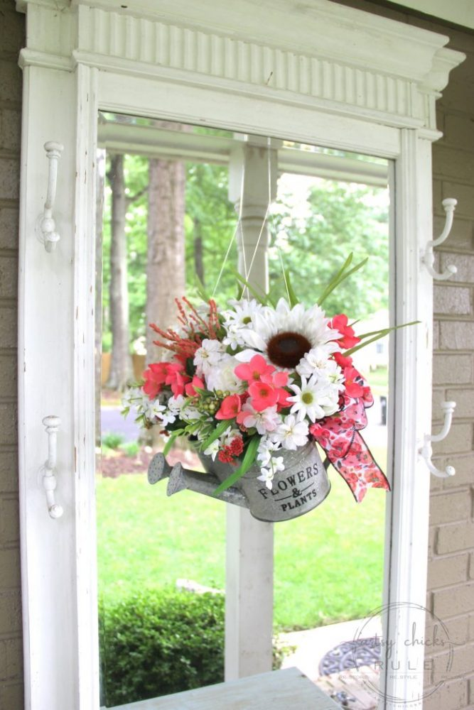 Summer Wreath Ideas - Watering Can Summer Wreath by Artsy Chicks Rule