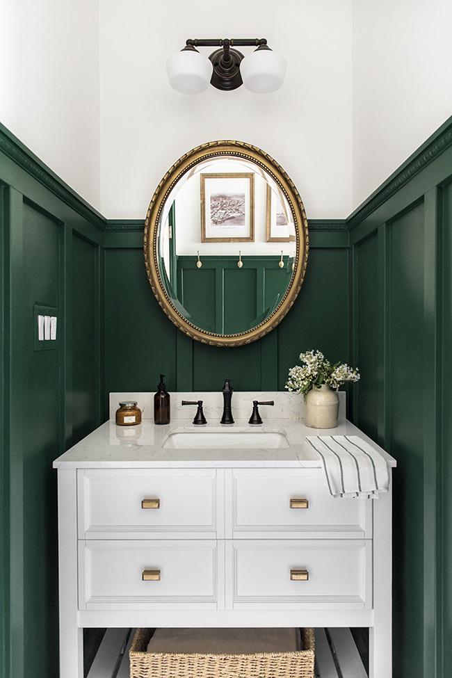 Budget Friendly Bathroom Renovations and Decor Tips - Classic and Earthy Bathroom Remodel by Jenna Sue Design