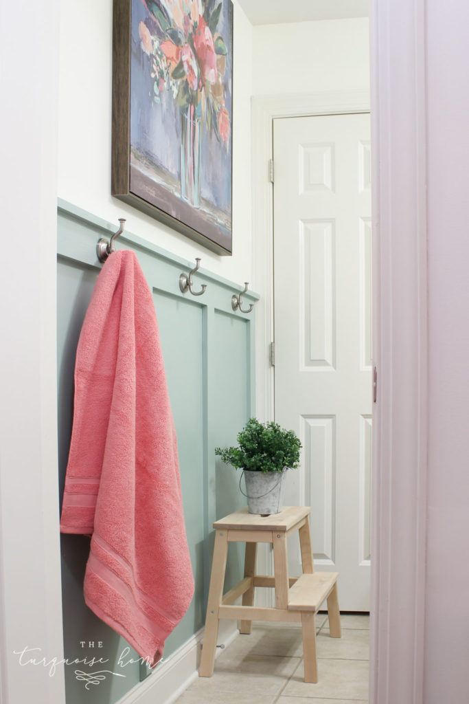 Budget Friendly Bathroom Renovations and Decor Tips - Creating Big Style in a Small Bathroom by The Turquoise Home