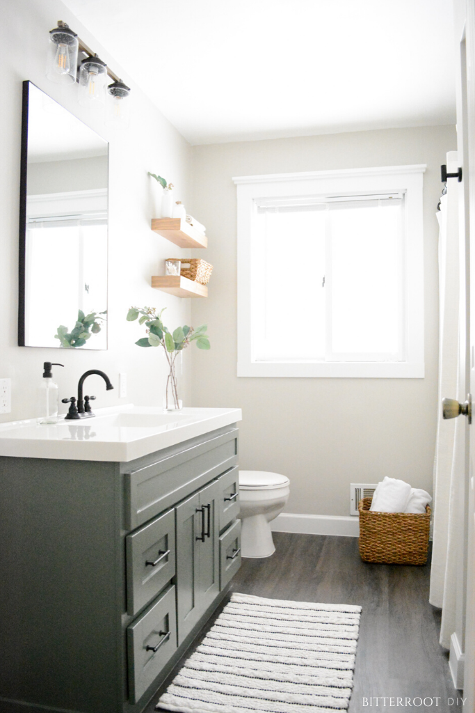Budget Friendly Bathroom Renovations and Decor Tips - DIY Bathroom Vanity Makeover by Bitterroot DIY