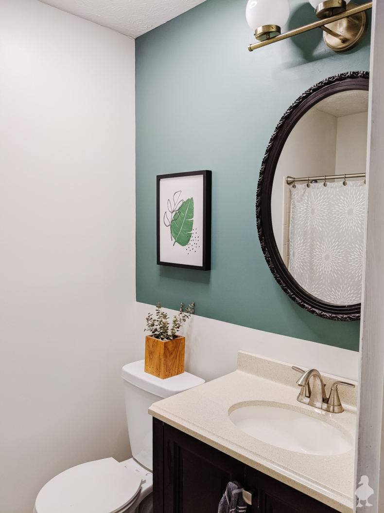 Budget Friendly Bathroom Renovations and Decor Tips - Guest Bathroom Refresh by Ugly Duckling House