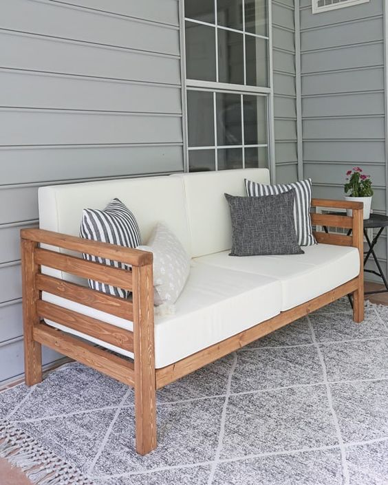 DIY Backyard Projects - DIY Couch by Angela Marie Made