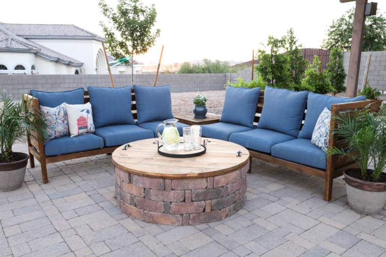 DIY Backyard Projects - DIY Fire Pit Cover by Addicted 2 Decorating