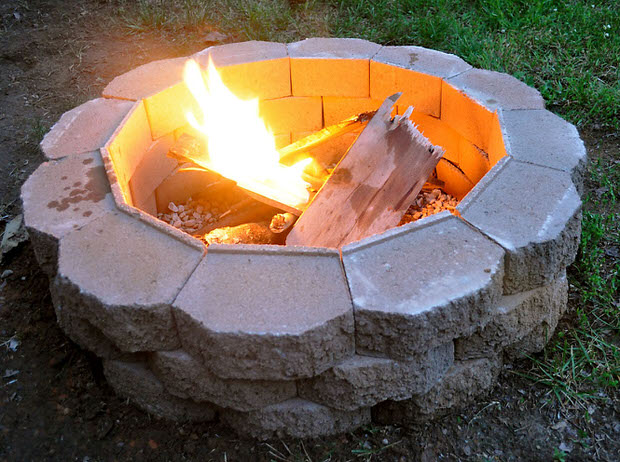 DIY Backyard Projects - DIY Fire Pit by The Garden Glove