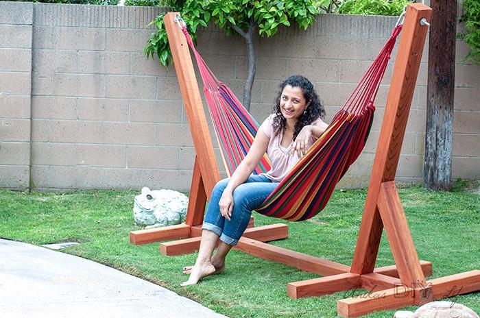 DIY Backyard Projects - DIY Hammock Stand by Anika's DIY Life