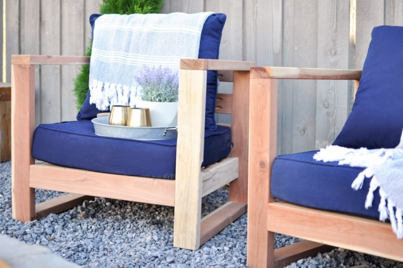 DIY Backyard Projects - DIY Modern Outdoor Chair by Cherished Bliss