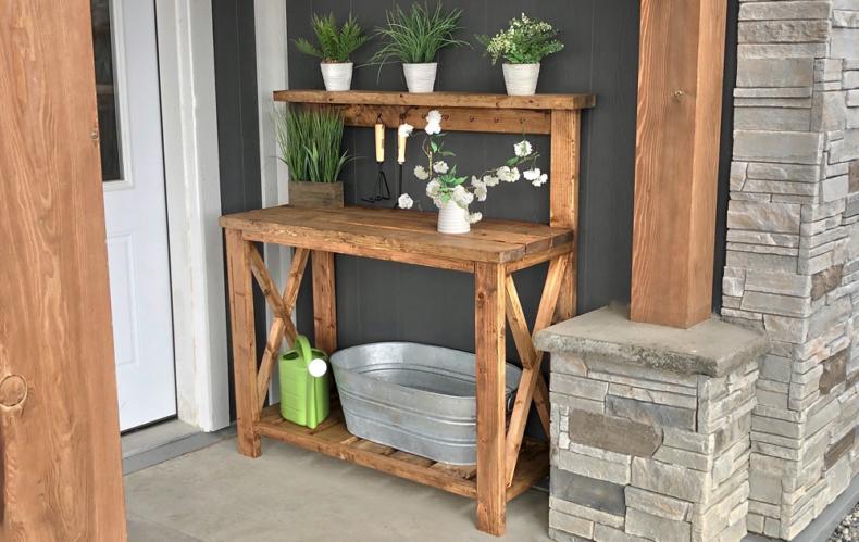 DIY Backyard Projects - DIY Potting Bench by Ana White