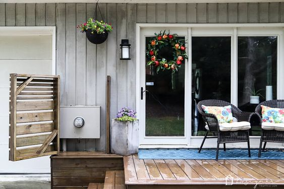 DIY Backyard Projects - How to Hide a Utility Box by Kaleidoscope Living