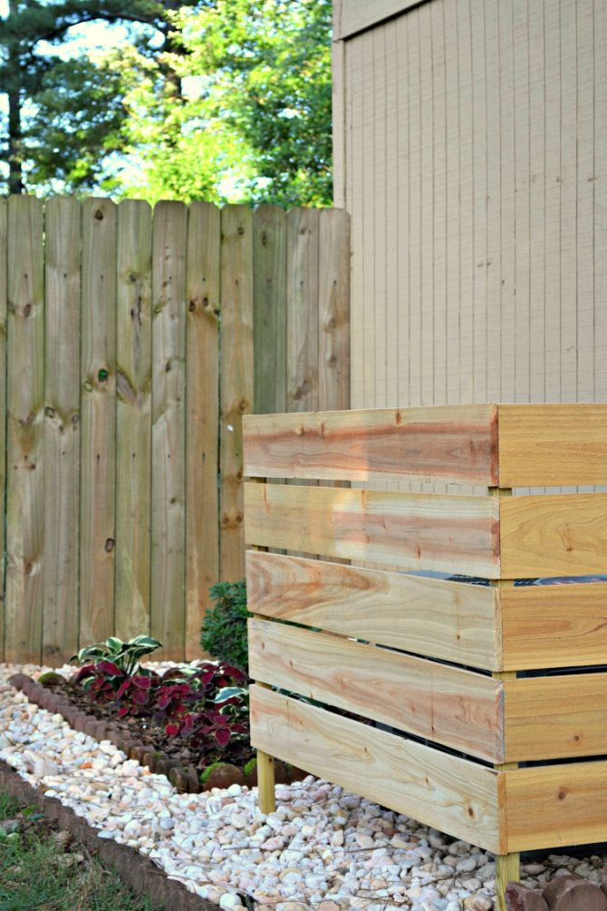 DIY Backyard Projects - How to Hide an AC Unit by Ugly Duckling House