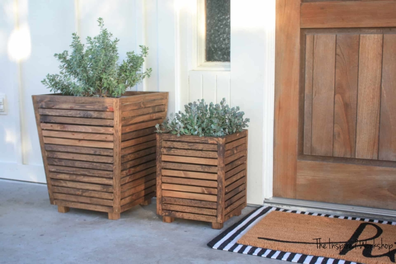 DIY Scrap Wood Outdoor Planter by The Inspired Workshop
