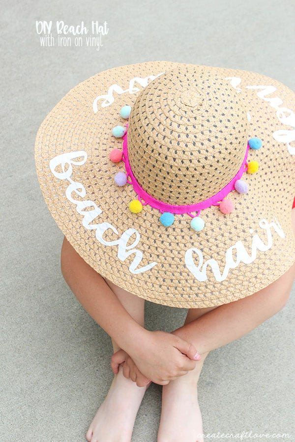 Fun Gifts and Crafts to Make This Summer - DIY Beach Hat by Create Craft Love