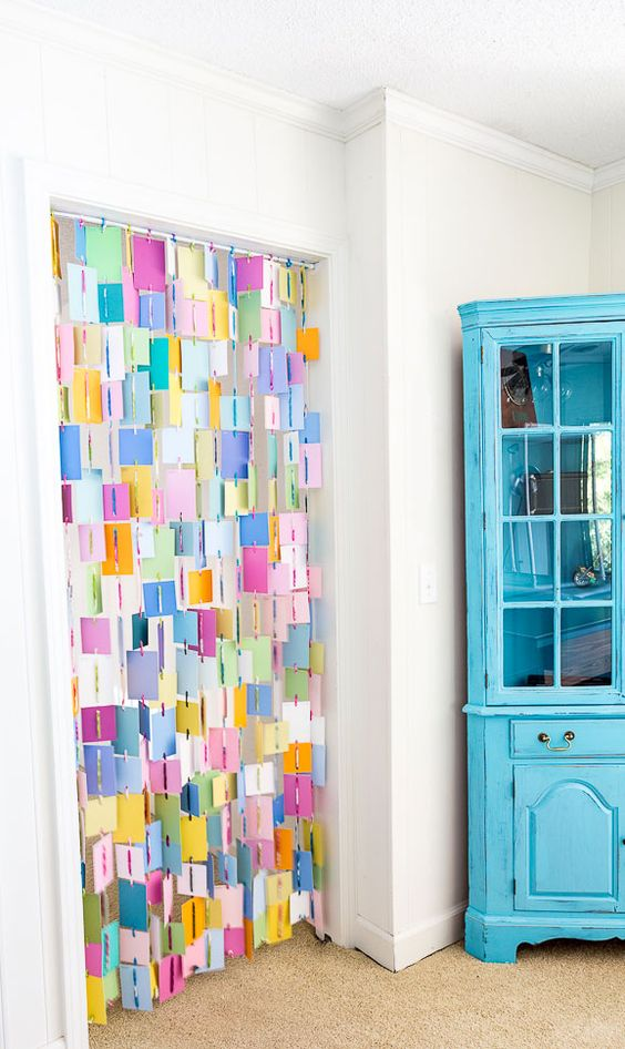 Fun Gifts and Crafts to Make This Summer - DIY Paint Chip Curtain by In My Own Style