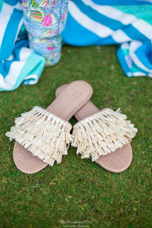 Fun Gifts and Crafts to Make This Summer - Embellished Beach Sandals by Heathered Nest