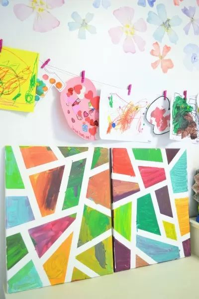 Fun Gifts and Crafts to Make This Summer - Painter's Tape Canvas Art by All Crafty Things