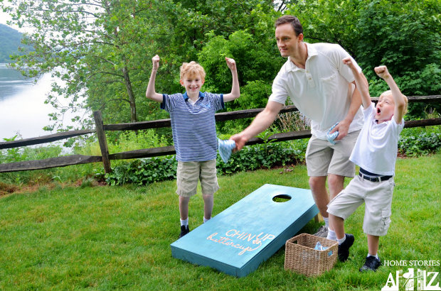 DIY Backyard Projects and Ideas - DIY Cornhole Board by Home Stories A to Z