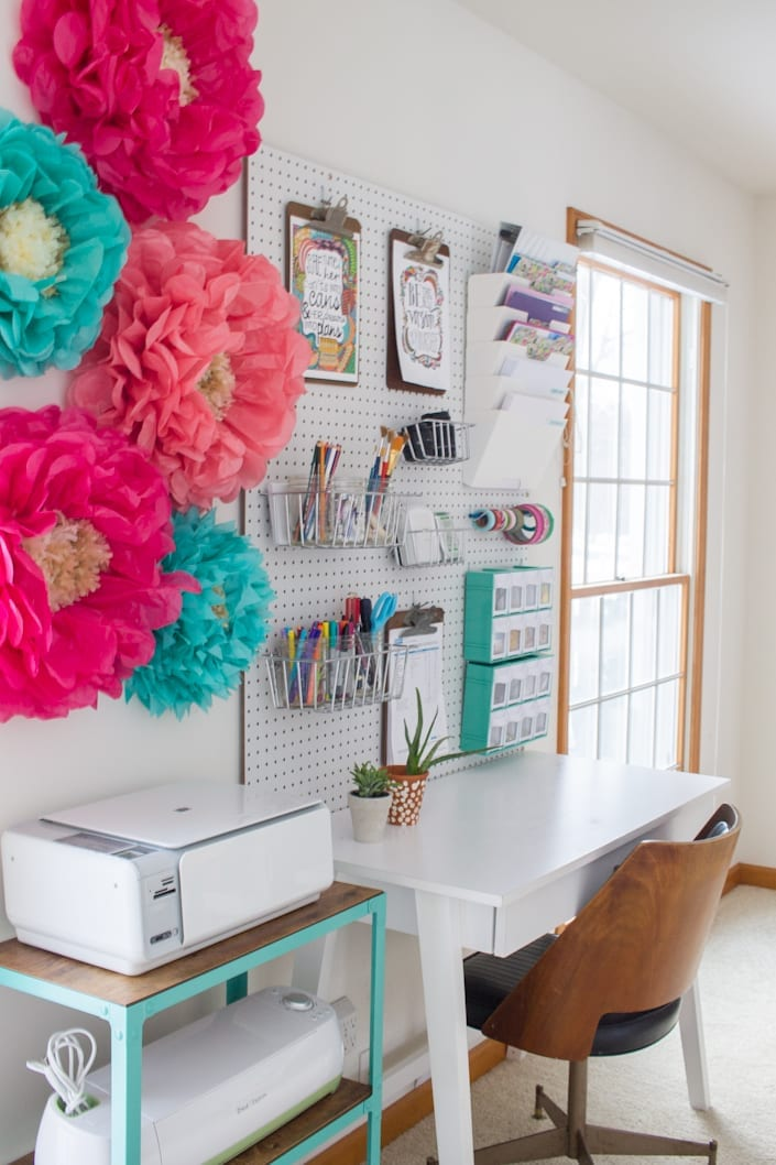 DIY Office Ideas - Creative Office Design by White House Black Shutters