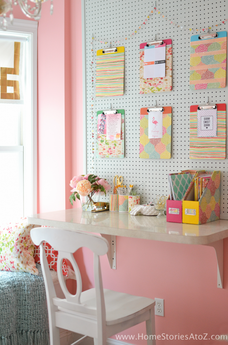 DIY Office Ideas - Cute School Supplies by Home Stories A to Z