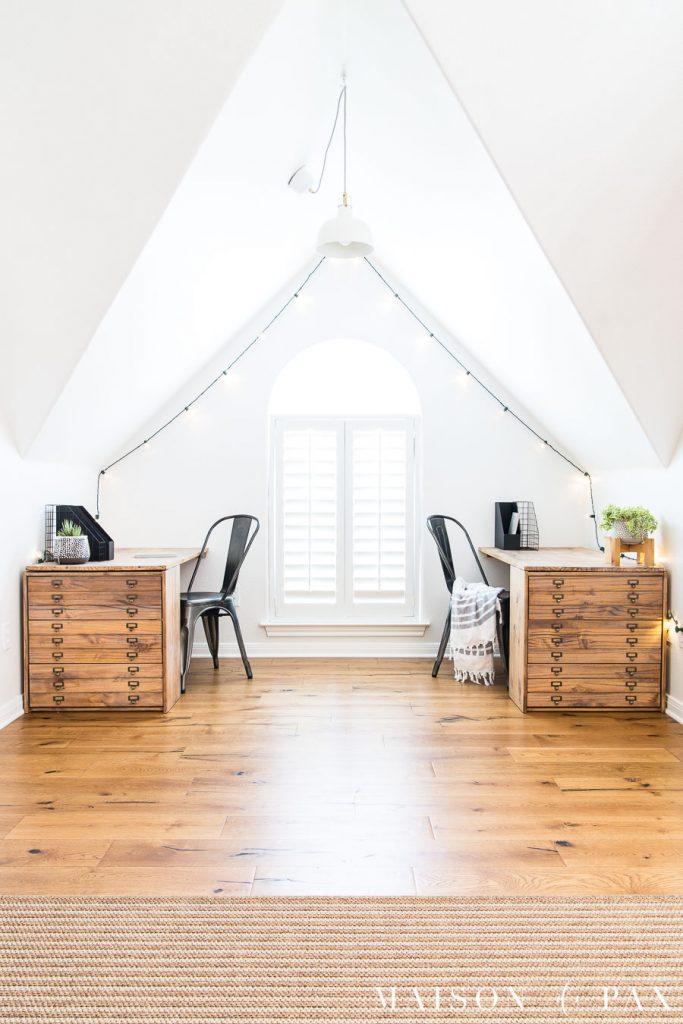 DIY Office Ideas - DIY Desk with Drawers by Mason de Pax