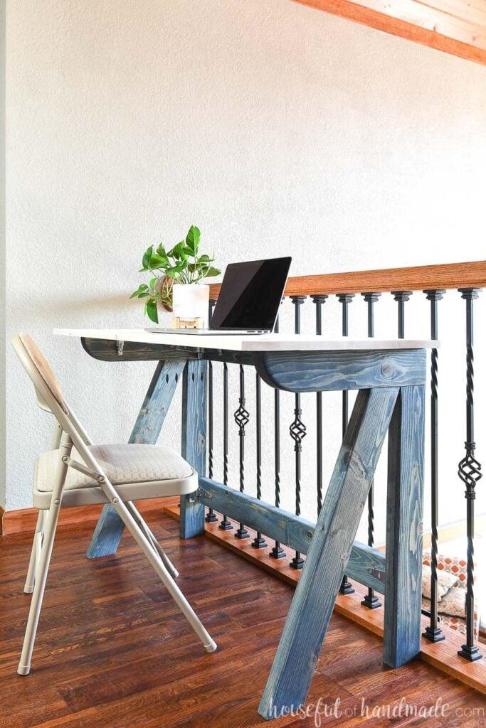 DIY Office Ideas - DIY Fold away desk by Houseful of Handmade