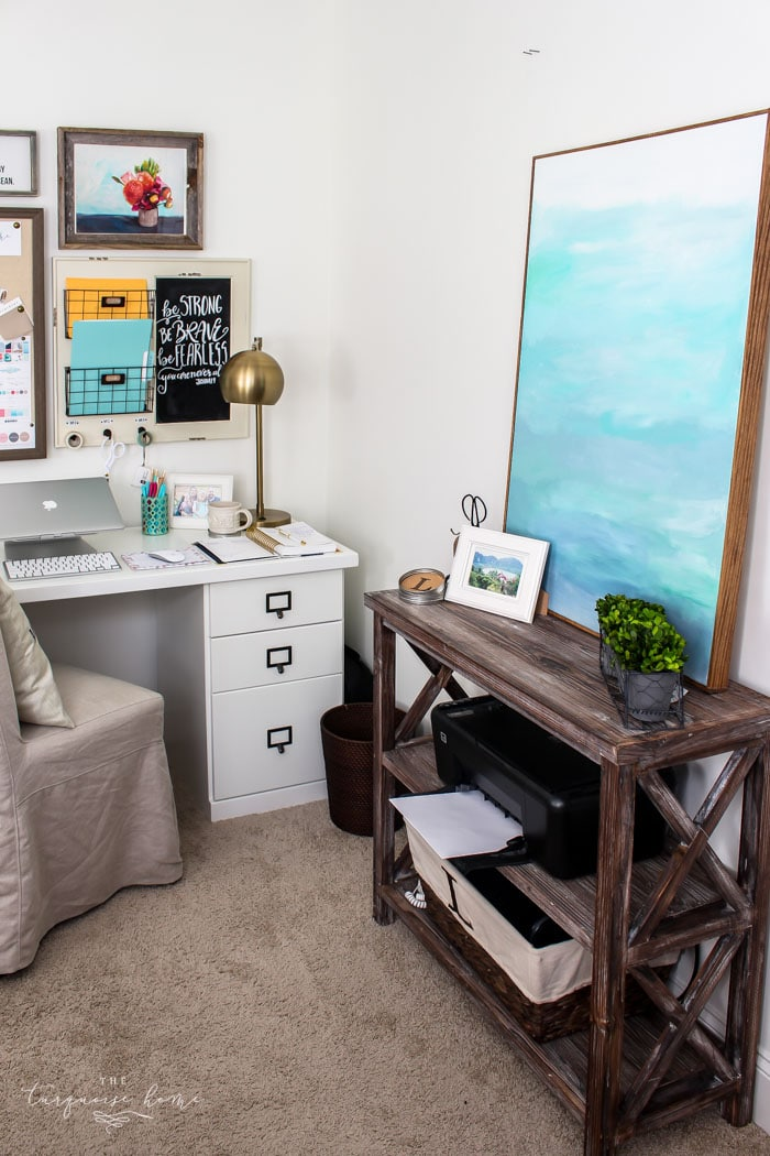 DIY Office Ideas - Decluttering a Room by The Turquoise Home