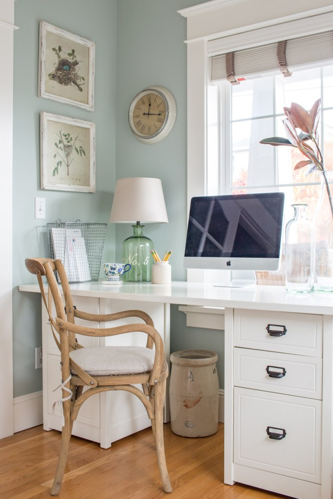 DIY Office Ideas - Guest Room Office by Saw, Nail, and Paint