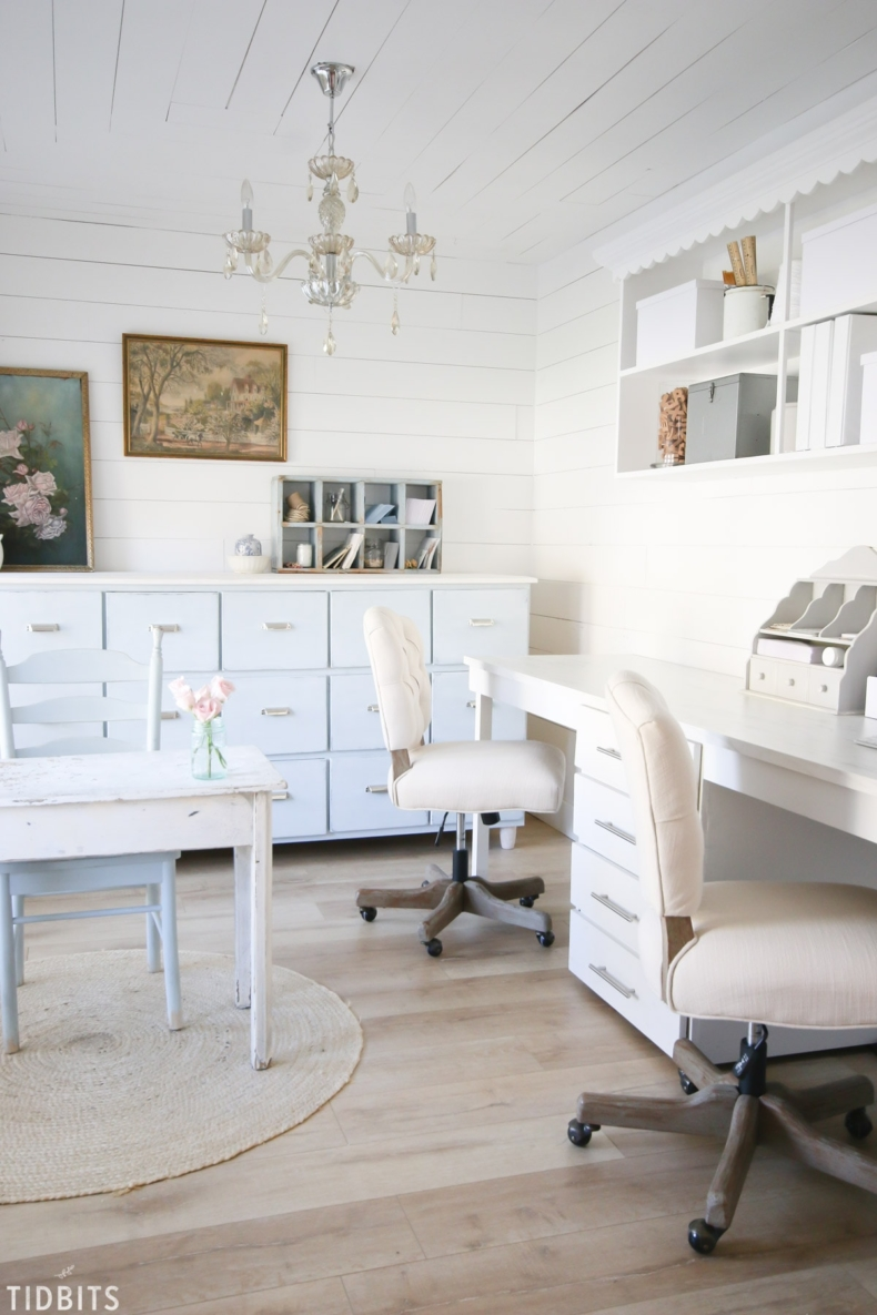 DIY Office Ideas - Home Office Makeover by Tidbits