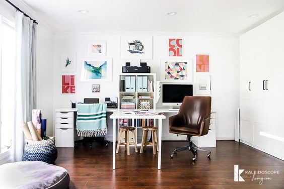 DIY Office Ideas - Home Office Organization and Design by Kaleddoscope Living