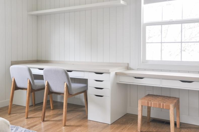 DIY Office Ideas - IKEA desk hack by Hydrangea Treehouse