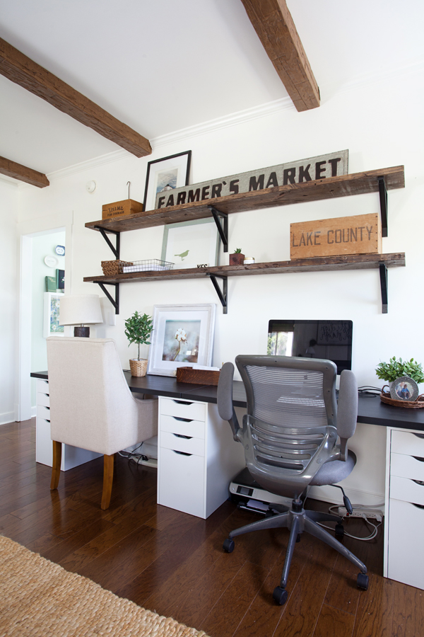 DIY Office Ideas - Master Bedroom Office Idea by The Lettered Cottage